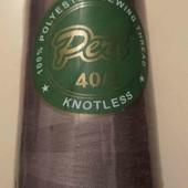 лот 1 новая упакованная бобина ниток, цвет кофейные