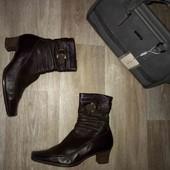 Кожаные женские ботинки 38-39рр