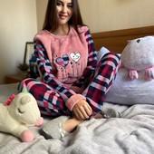 Пижама женская Утепленная Турция-100% коттон.ХЛ размер