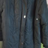 Пальто-пуховик с капюшоном зимнее