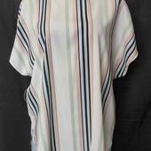Свободная блузочка с удлиненной спинкой и закругленным низом,новенькая,не ношена,xl