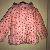 Куртка на температуру до 0 на возраст 18-24 лет 92 см