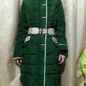 Зимняя фирменная куртка /пальто / пуховик изумрудный хамеллион из магазина Savage