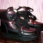 Офигенные зимние ботинки,24,5см