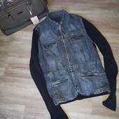 Женская джинсовая куртка L XL
