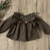 Вельветовая блуза на девочку 2-3 года. В хорошем состоянии.
