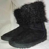 Новые замшевые детские тёплые сапожки на холодную осень-теплую зиму