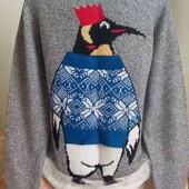 Фирменный мужской новогодний свитер!!!