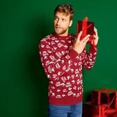 успей купить!Новогодний брендовый свитер Livergy высокое качество!размер на выбор!