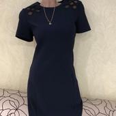 Роскошное темно-синее плотное платье M&S с бумажной биркой. Турция