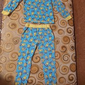 Классная пижама с миньонами, пижамка в садик 110 рост, на 3-5 лет
