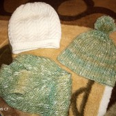 Лот шапочек для девочки