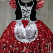 Платье красной Шапочки 5-6лет замеры на фото