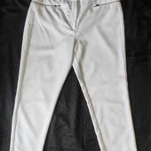 Белые стрейчевые брючки с молниями,F&F, талия 80-84