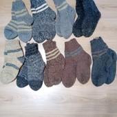 Теплые носки, ручная вязка, разные размеры