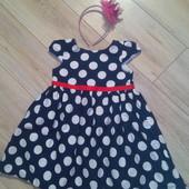 Очень красивое платье, состояние идеал, от 1,5 до 3 лет