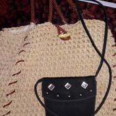 Лот 1 плетеная и 1вечерняя сумочки.замеры на фото и в описании.