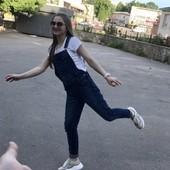 Крутой джинсовый комбинезон Zara ! в идеале