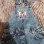 джинсовий комбінезон для дівчинки новий зріст 140