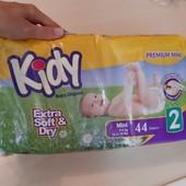 ❤ Подгузники Kidy Premium 2 размер (3-6кг), 39 шт