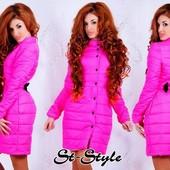 Стильная куртка-пальто на синтепоне , р-р С