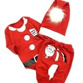 Новиночка! Шикарный ясельный новогодний костюмчик для малышей! На рост: 68,74,80,86см!