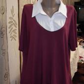 Обманка, блуза,рубашка,пог-58