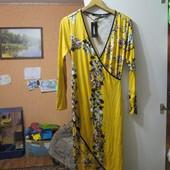 Новое, горчичное платье на запах Annabelle, р.S