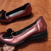 Удобные туфельки, красная бронза, 38р