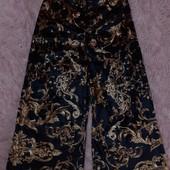 Крутенные брюки кюлоты велюр рисунок крутой под золото блеск нереальный