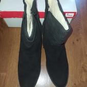 Зимние ботинки Rieker из натуральной замши