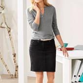 Стильная джинсовая юбка от Tchibo, размер евро 46