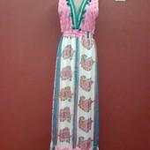 Бомбическое платье в пол с бубошками нереальной красоты