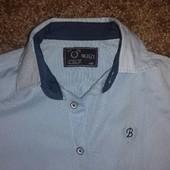 Рубашка светло синяя 128 размер (длинна 50) в идеал.состоянии