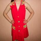 Платье летнее, яркое, открыта спина, 44,46 размер