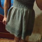 Красивое тёплое платье без рукавов, рS, замеры