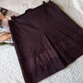 Красивая юбка цвета марсала на пышные формы . размер евро 48,наш 52,54