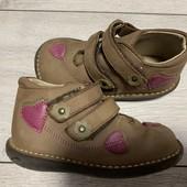 Кожаные Деми ботиночки Miss 24 размер стелька 14,5 см