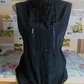 Модная чёрная √√ Пог 52 см жилеточка на подкладке √√ отличное качество !