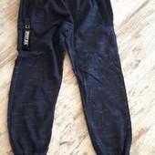 Фирменные трикотаж брюки джоггеры, спорт. Синие, мелланж р104 59/39см