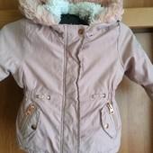 Куртка, еврозима, внутри шерпа, р. 12-18 месяцев 86 см. Primark.