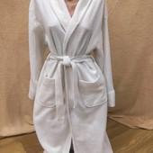 Теплющий люксовий халат розмір XL ( 50-54 ) пухнастий об'ємний дуже щільний у відмінному стані