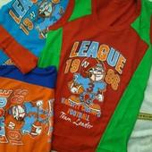 Стоп!!! Яркие футболки-безрукавки на мальчика. Хлопок!!!