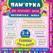 Пам'ятка для початкової школи. Англійська мова. Розмовні теми та діалоги. 2-4 класи