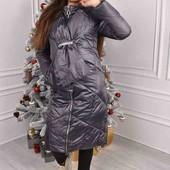 Шикарное дутое пальто зимние тёплые качество отличное