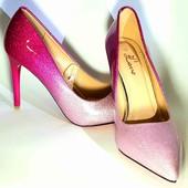 Туфли лодочки блестящие. Снижена цена!