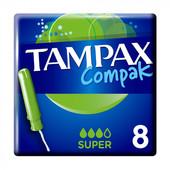 Тампоны tampax compak super с аппликатором, 8 шт для месячных хорошее качество на 3 капли