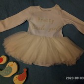 12-18мес нарядный боди для принцессы