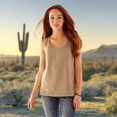 Стильная Блуза топ с перфорацией мягенькая замша красивый песочный цвет Tchibo размер 40 евро=46-48
