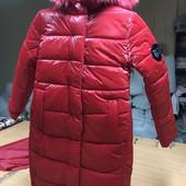 Зимняя куртка-пальто для девочек, р.146-158